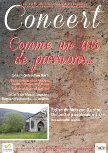 affiche amis molezon 2012 passions rvb